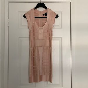 Light pink bodycon mini dress